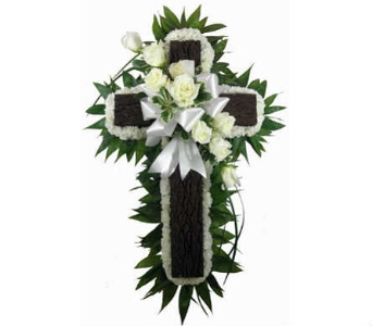Simple Devotion Rustic Cross in Indianapolis IN, Steve's Flowers & Gifts