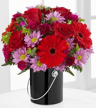 The Color Your Day with Intrigue� Bouquet in Chicago IL, Yera's Lake View Florist