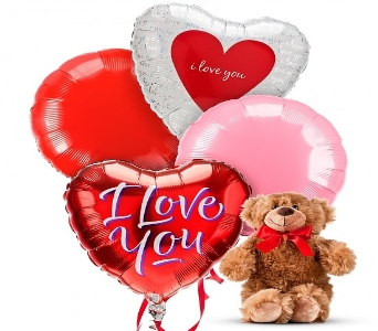 VALENTINE'S BEAR AND BALLOON BOUQUET in Vienna VA, Vienna Florist & Gifts