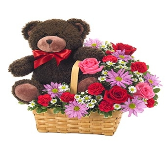 I LOVE YOU BEARY MUCH BOUQUET in Vienna VA, Vienna Florist & Gifts