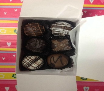 6 Piece Chocolate Box in Sitka AK, Bev's Flowers & Gifts