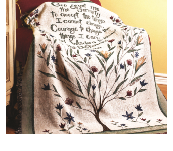 Serenity Prayer Throw in Oakland City IN, Sue's Flowers & Gifts
