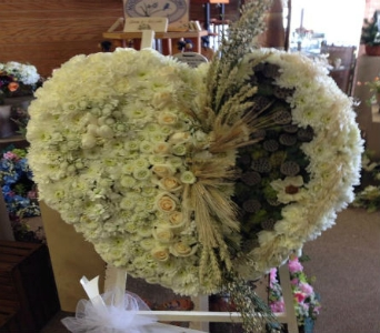 Solid White Heart in Frankfort IL, The Flower Cottage