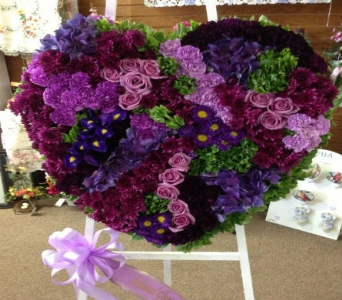 Solid Purple Heart in Frankfort IL, The Flower Cottage