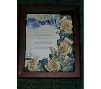 8x10 Shadowbox in Middletown DE, Forget Me Not Florist & Flower Preservation