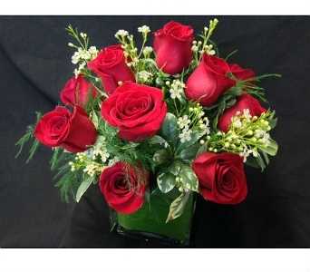 Red Rose Cube in Dallas TX, Z's Florist