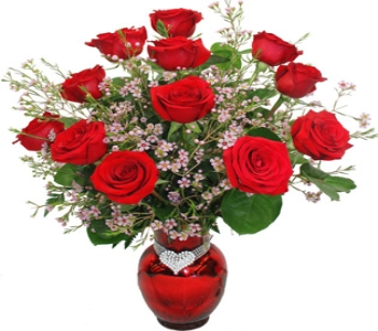 Diamante Dozen, Deep Red in Newport News VA, Pollards Florist
