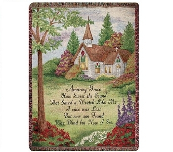 Tapestry Throw - Amazing Grace in Pickerington OH, Claprood's Florist