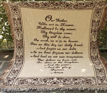 Tapestry Throw - The Lord's Prayer in Pickerington OH, Claprood's Florist