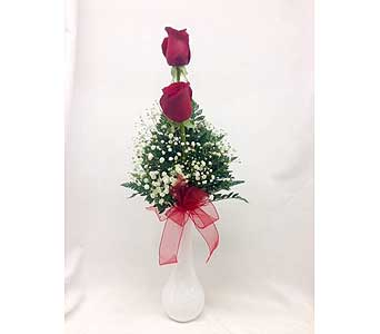 Red Rose in a Bud Vase in Titusville FL, Floral Creations By Dawn