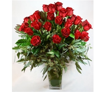 Raving 3 Dozen Roses in Houston TX, River Oaks Flower House, Inc.
