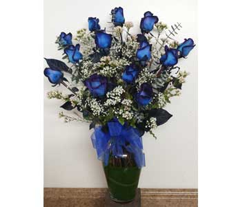 1 Dozen Blue Roses in Berkeley CA, Ashby Flowers
