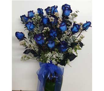 18 Blue Roses in Berkeley CA, Ashby Flowers