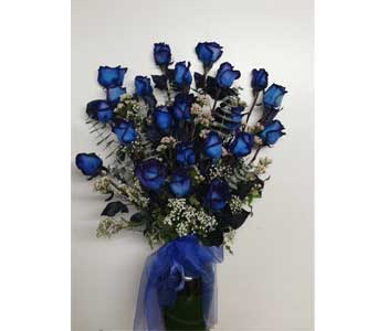 2 Dozen Blue Roses in Berkeley CA, Ashby Flowers