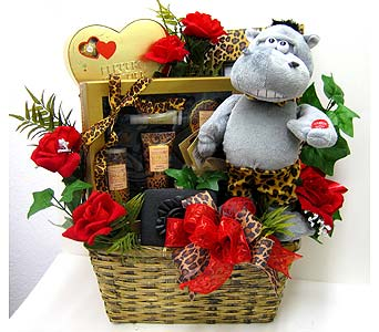 "GB337  ""Love on the Wild Side"" Gift Basket in Oklahoma City OK, Array of Flowers & Gifts"