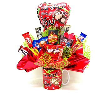 "CB295  ""Wild About You"" Candy Bouquet in Oklahoma City OK, Array of Flowers & Gifts"