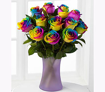 Rainbow Rose Bouquet in Greenville SC, Greenville Flowers and Plants