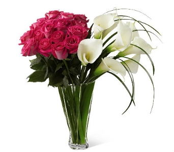 Luxury Rose and Calla Bouquet in Waterbury CT, The Orchid Florist