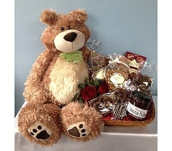Large Teddy Bear with Chocolates Galore in Portland OR, Portland Florist Shop
