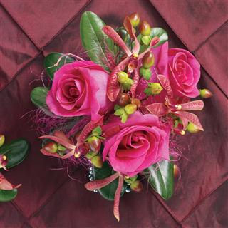 Paradise Pizzazz Corsage in Camp Hill and Harrisburg PA, Pealer's Flowers