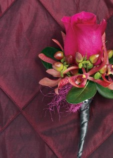 Paradise Pizzazz Boutonniere in Camp Hill and Harrisburg PA, Pealer's Flowers
