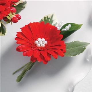 Luscious Gerberas Boutonniere in Camp Hill and Harrisburg PA, Pealer's Flowers