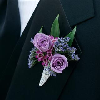 Pleasantly Plum Boutonniere in Camp Hill and Harrisburg PA, Pealer's Flowers