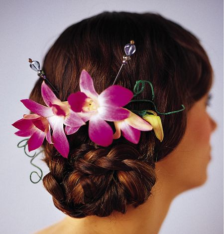 Elegant Orchid Headpiece in Camp Hill and Harrisburg PA, Pealer's Flowers