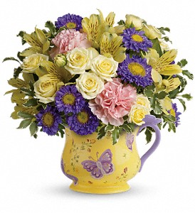 Teleflora's Sunbeams And Butterflies Bouquet in Lake Worth FL, Flower Jungle of Lake Worth