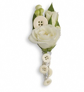 All Buttoned Up Boutonniere in Islandia NY, Gina's Enchanted Flower Shoppe