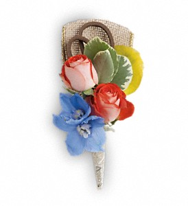 Barefoot Blooms Boutonniere in Denver CO, A Blue Moon Floral