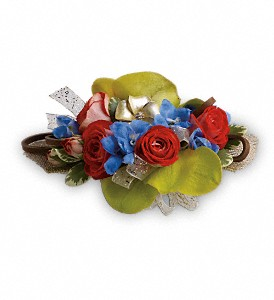 Barefoot Blooms Corsage in The Woodlands TX, Botanical Flowers and Gifts
