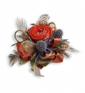Boho Dreams Corsage in Kent WA, Blossom Boutique Florist & Candy Shop