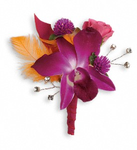 Dance 'til Dawn Boutonniere in La Grange IL, Carriage Flowers