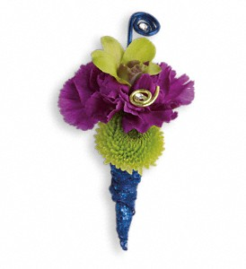 Evening Electric Boutonniere in Orwell OH, CinDee's Flowers and Gifts, LLC