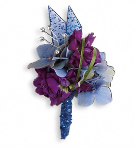 Feel The Beat Boutonniere in Golden CO, Fleur-De-Lis Flowers