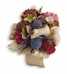 Midnight Wanderings Corsage in Islandia NY, Gina's Enchanted Flower Shoppe