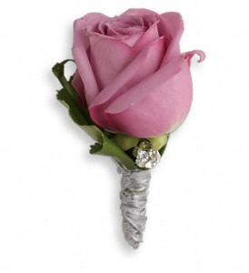 Roses And Ribbons Boutonniere in Warwick RI, Yard Works Floral, Gift & Garden