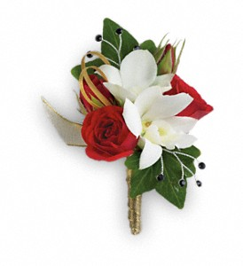 Star Studded Boutonniere in Canton NC, Polly's Florist & Gifts