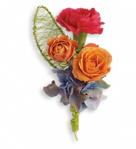 You Glow Boutonniere in Modesto, Riverbank & Salida CA, Rose Garden Florist