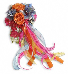 You Glow Corsage in Warsaw KY, Ribbons & Roses Flowers & Gifts