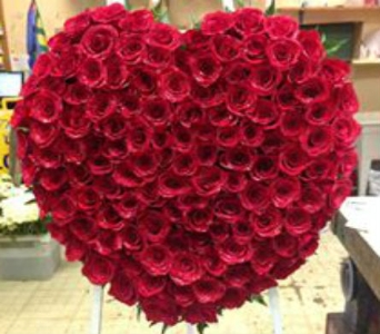 Solid Rose Heart in Frankfort IL, The Flower Cottage