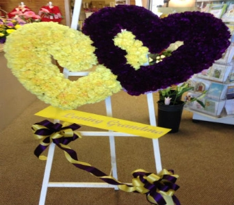 Solid Double Heart in Frankfort IL, The Flower Cottage