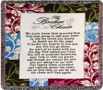 The Broken Chain Throw Blanket in Ambridge PA, Heritage Floral Shoppe