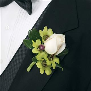 Vibrant Cluster Boutonniere in Camp Hill and Harrisburg PA, Pealer's Flowers