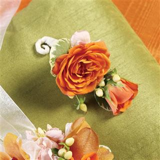 Orange Creamsicle Boutonniere in Camp Hill and Harrisburg PA, Pealer's Flowers
