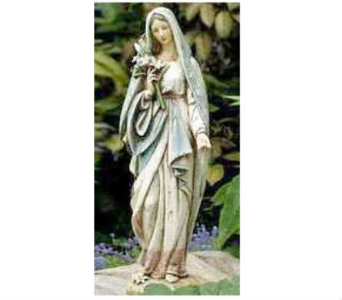 Blessed Mother with Lilies in Warren MI, Downing's Flowers & Gifts Inc.