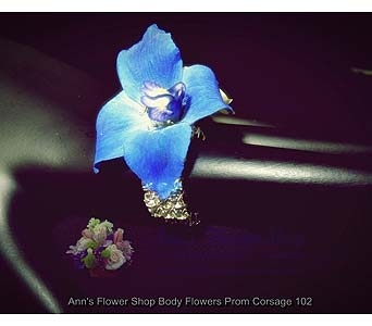 Blue Blossom Ring in Auburn ME, Ann's Flower Shop