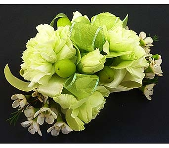 Green Mini Carnation Corsage in Mesa AZ, Watson Flower Shops