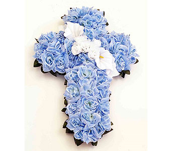 Silk Cross - Light Blue in Timmins ON, Timmins Flower Shop Inc.